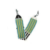 Bracelet de bras Fulani en perles de verre multicolore