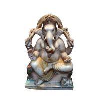 Sculpture en marbre représentant le dieu Ganesh