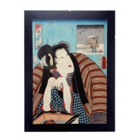 Estampe japonaise du 19e siècle