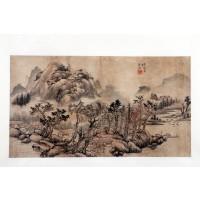 Ensemble de peintures représentant les quatre saisons, dynastie Qing
