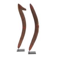 Paire de boomerangs aborigène, région du désert central (?)