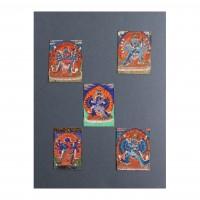 Ensemble de cinq miniatures, Népal