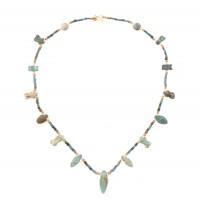 Collier de perles de faïence, Egypte, 3e - 1er s. av. J.-C.