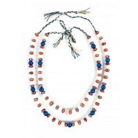 Deux colliers de perles de verre, Chine