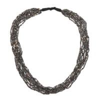 Collier Dogon à rangées multiples de perles de verre, Mali, 17e - 18e s.