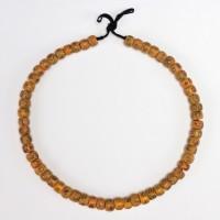Collier de perles de verre vénitien opaque et jaune, Italie, 19e s.