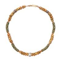 Collier de perles de verre vénitien, 19e s.