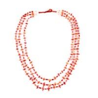 Collier triple rangées de perle d'agate, Bactriane, 3e - 7e s.