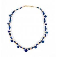 Collier de perles en lapis lazuli bactrianes