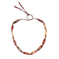 Collier de perles d'agate à facettes bi-coniques