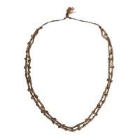 Collier Khondh à double rangées de perles de cuivre, Inde, 19e - déb. 20e s.