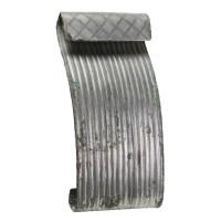 Plaque de ceinture chinoise en bronze argenté