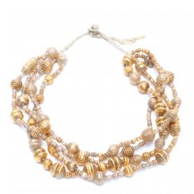 Glass beads necklace from Ecuador