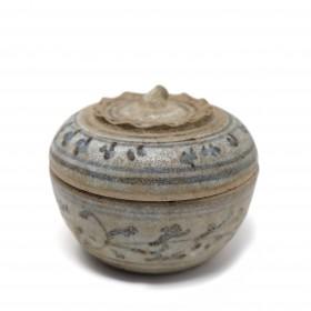 Thai Sawankhalok ceramic box with lid