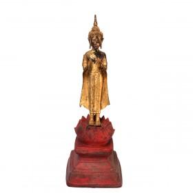 Bouddha en bronze doré, Thaïlande