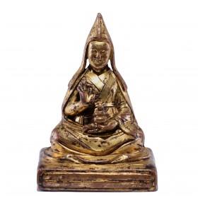 Gilt bronze Figure of a Lama