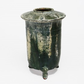 A Han terra cotta 'Cang' Vessel