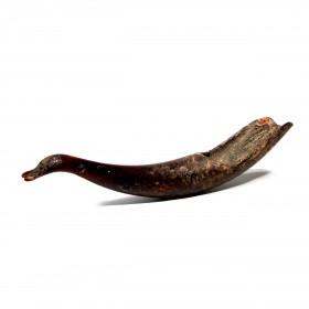 A bird headed Spoon in horn