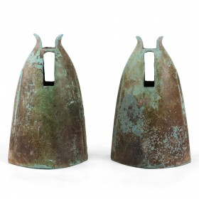 A pair of Vietnamese late Dông Son bronze Bells