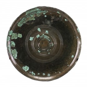 A Khmer bronze Mirror with concentric pattern