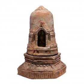 Stupa votive en terre cuite, Birmanie, 19e s.