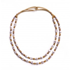 Necklace with two strings of Venetian glass beads