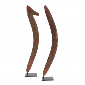 Aboriginal Central desert pair of boomerangs