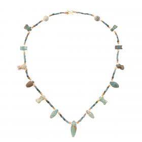 ISA B // Collier de perles de faïence, Egypte