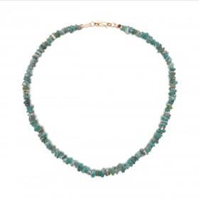 Collier de perles de verre bleu, Chine, 3e - 1er s. av. J.-C.